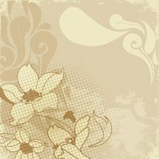 Free Vintage Flower Paint Royalty Free Stock Photography - 15812047