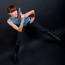 Free Woman With Gun Stock Images - 15812584
