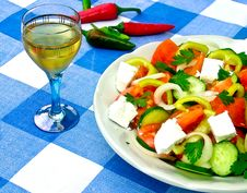 Salad And Brandy Stock Photos
