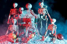 Halloween Skeleton Stock Photography