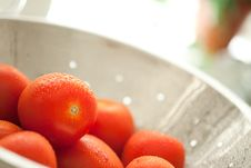 Free Roma Tomatoes In Colander With Water Drops Royalty Free Stock Photo - 15813965