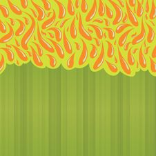 Free Colourful Green Background With Abstract Drawing Stock Image - 15814191