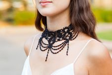 Free Adornment On Neck Of Young Woman Royalty Free Stock Images - 15814599