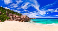 Free Tropical Beach At Seychelles Royalty Free Stock Images - 15815189