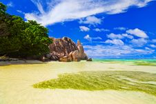 Free Beach Source D Argent At Seychelles Royalty Free Stock Photography - 15815347
