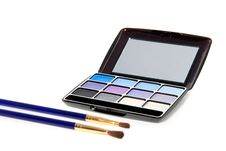 Free A Make-up Box With Two Brushes Stock Photo - 15815770