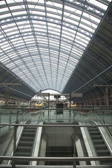 St Pancras Railway Station Royalty Free Stock Images