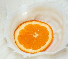 Free Orange Splash Royalty Free Stock Image - 15816536