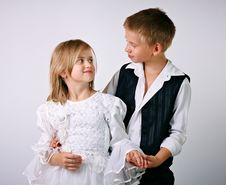 Little Bride And Groom Royalty Free Stock Image