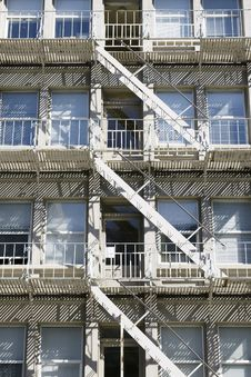 Free Apartment Building Fire Escape Stairs Stock Photo - 15817420