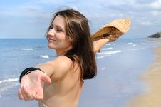 Free Young Woman Relaxing On The Beach Stock Photos - 15817663