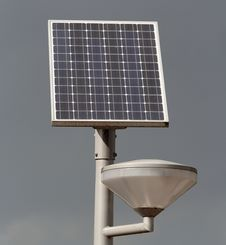 Solar Powered Street Light Stock Photos