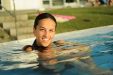 Free At The Pool Royalty Free Stock Photography - 15819087