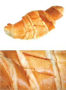 Free Croissant With Butter Royalty Free Stock Photo - 15819345