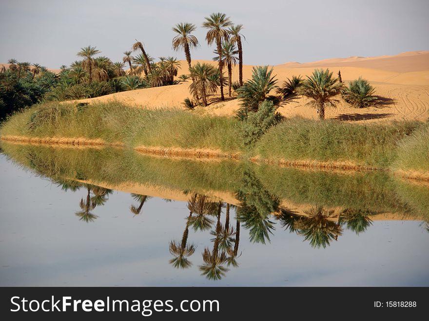 Lake in Libya
