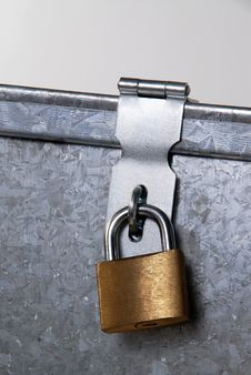 Metal Padlock Closure Stock Image