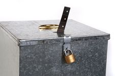 Vintage Ballot Box With Padlock Ticket Voting Royalty Free Stock Photos