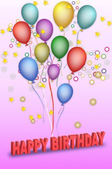 Free Vector Happy Birthday Stock Image - 15821531