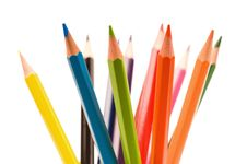 Free Multicolor Pencils Royalty Free Stock Image - 15821546