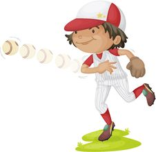 Free A Boy Throwing Ball Stock Photography - 15822282