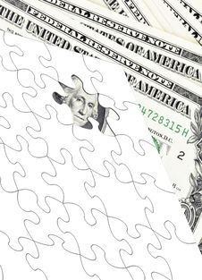 Free Dollar Puzzle Royalty Free Stock Image - 15822396