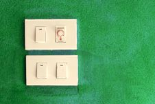 Free Light Switch On Green Stock Photos - 15823163