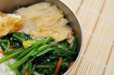 Asian Style Packed Meal Stock Photography