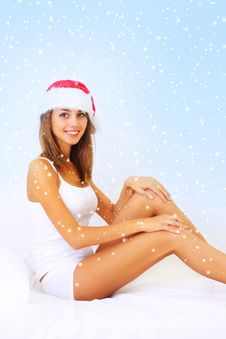 Girl - Santa Claus Stock Image