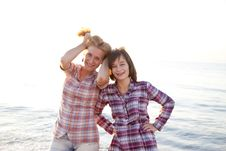 Free Portrait Of Two Beautiful Girls Stock Photography - 15824292