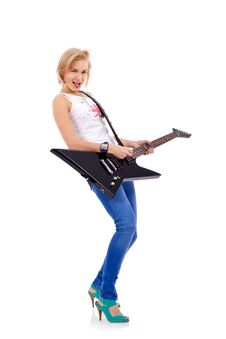 Free Woman With The Guitar Royalty Free Stock Photo - 15824465
