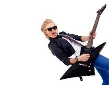 Free Rock Star Girl Stock Photos - 15824473