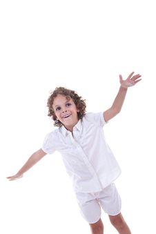 Free Girl With Hands In The Air Royalty Free Stock Photography - 15824497