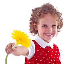 Free Girl With Flower Stock Photos - 15824563