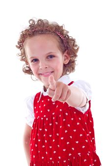 Free Little Girl Pointing Stock Photography - 15824592
