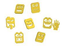 Free 3D Pixel Smilies Royalty Free Stock Photo - 15825725
