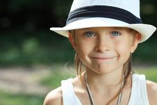 Boy In Hat Royalty Free Stock Photo