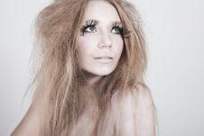 Free Exotic Looking Fashion Model With Long Eyelashes Royalty Free Stock Photo - 15826315