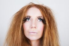 Free Exotic Looking Fashion Model With Long Eyelashes Stock Photography - 15826352
