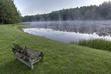 Silver Lake At Dawn Stock Photo