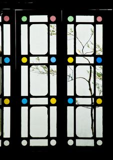 Free Window View Of Chinese Classic Gardens: Shi Zi Lin Stock Photography - 15827732