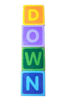Free Down In Toy Play Block Letters With Clipping Path Royalty Free Stock Photos - 15827958