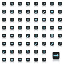 Free Set Of Icons Royalty Free Stock Photography - 15827997