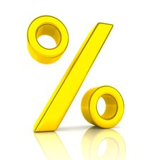 Golden Percent Stock Photos