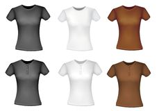 Free Black And White And Brown Shirts (women). Stock Images - 15829754