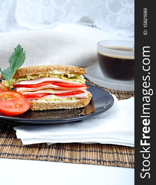 Fresh and delicious classic sandwich