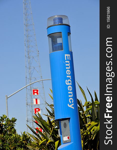 Emergency Call Box Station 2 - Free Stock Images & Photos - 15821866