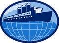 Free Ocean Liner Boat Ship Globe Stock Photos - 15836263