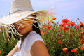 Free Beautiful Woman In Poppy Flowers Royalty Free Stock Photos - 15837718