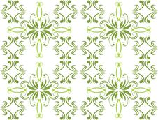Free Decorative Green Ornament For Background Royalty Free Stock Photography - 15830047