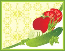 Free Vegetables. Background For Card Royalty Free Stock Images - 15830099